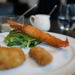 東洋軒 - 牡蠣フライ、毛蟹クリームコロッケ 車えびフライ