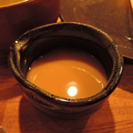 つけ麺屋 やすべえ - スープ割りは別途サーブだった。これですら、ややヌルめ・・。