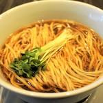中華蕎麦 三藤 - 醤油拉麺・具は別ぬきで麺のみ