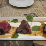 シカゴステーキ オーロラ - 次はシャトーブリアンステーキ、牛のヒレ肉の中で中央部の最も太い部分の赤身のステーキですね。