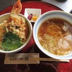 一徳 - 料理写真:【天丼セット 1600円】(土日限定)