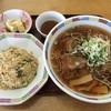 新幹線ラーメン - 料理写真:醤油ラーメン+半チャンセット ¥800