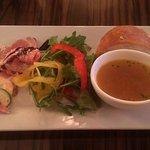 恵比寿 ES Classico - ワンプレートのサラダ・スープ・パン