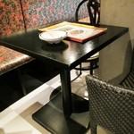 バーン・キラオ - テーブル席の卓上