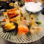 47都道府県の日本酒勢揃い 夢酒 - 宝石のような魚介たちがお目見え!