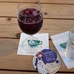 オープンカフェ - 美果ぶどうジュース