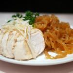 梅蘭 - 3種冷菜盛り合わせ(蒸し鶏、クラゲ)