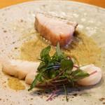 魚菜料理 縄屋 - クエと鰆の塩焼き
