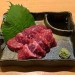 焼肉まさしげ - 和牛モモ刺 714円(税込)
