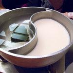 和食さと - 昆布だしと豆乳だしにしてみました。