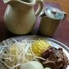 成吉 - 料理写真:ロース成吉思汗定食一人前(1280円)。これにライス・味噌汁・沢庵付