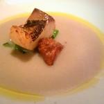 60826372 - 菊芋のスープ、もの凄い鯖、小松菜