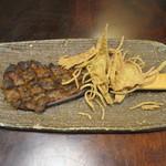 蕎麦倶楽部 佐々木 - 焼きみそ(鴨入り) 500円