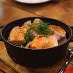 大衆ビストロ ジル - あん肝と野沢菜のストウブ飯