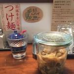 ラーメン・餃子 ハナウタ - 搾菜とっても美味しいです。
