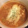 清勝丸 - 料理写真:トマトつけ麺のスープ 粉チーズがたっぷり