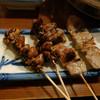 湯どうふごん兵衛 - 料理写真:うなぎの肝焼き・黒豚串焼き