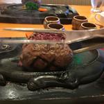 炭焼きレストランさわやか - テーブル上での仕上げ