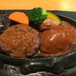 炭焼きレストランさわやか - げんこつハンバーグ(オニオンとデミグラ)