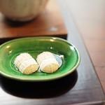 遊形 サロン・ド・テ - 俵型の干菓子