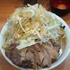 ラーメン二郎 - 料理写真:大豚ラーメン+ねぎ(この日の限定トッピング)+生たまご ※コールはそのまま