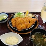 漣 - 開き海老フライ定食とワイン