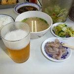 天ぷらひらお - またまた、運転手様に許可を頂きビールです。