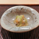 神楽坂 石かわ - 鱧のたたき、きゅうりのジュレ
