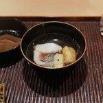 神楽坂 石かわ - 甘鯛と焼きナスのお椀