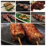 ごろみよ屋 - ピーマン肉詰め、しいたけ肉詰め、白レバ、つなぎ、貝柱、牛たん、つくね