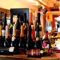 ワインやスパークリングワインが豊富!