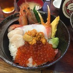 海鮮丼 大江戸 - うに盛り小樽丼