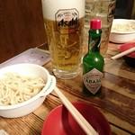 焼肉居酒屋 くまみちゃん  - 愛用のタバスコ