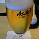 天然うなぎ しま村 - 一口ビール(486円)