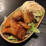 韓国風居酒屋おんどる - 厚切り豚バラ辛味焼き