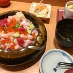 寿し松 - ランチ  サラダ・茶碗蒸し・お汁付き