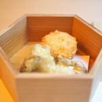 山玄茶 - 揚物 海老芋と蟹のコロッケ 舞茸
