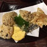 手打ちそば ほさか - 野菜の天ぷら