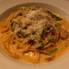トラットリア フィレンツェ・サンタマリア - 料理写真:スパイシーチキンとゴルゴンゾーラのクリームパスタ1350円