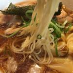姫路麺哲 - 醤油雲呑 恒例麺AGE