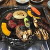 炭火焼 牛門 - 料理写真:ハラミとお野菜食事後半