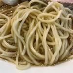 中華そば まるたけ - 麺はストレート