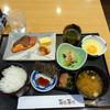 百花百兆 - 料理写真:モーニング焼き魚定食700円+生卵60円