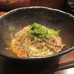汁なし担担麺専門 キング軒 - 汁なし担担麺(2辛) 580円。