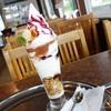 嬬恋牧場レストハウス - 料理写真:2016年10月 山のイチジクパフェ【750円】生クリームではなく、ソフトクリームでした~(´▽`)