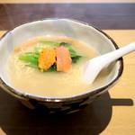 ハナヤマZ - ウニと魚介の塩ラーメン (730円) '16 1月下旬