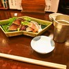 上かん屋 久佐久 - 料理写真:きずし & 白鷹(上燗)