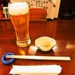 上かん屋 久佐久 - 生ビール