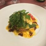 ビストロ スケガワ - オマール海老とホタテのサラダ