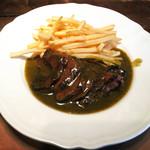 61194290 - 主菜                       豪産牛ランプグリルの緑胡椒ソース